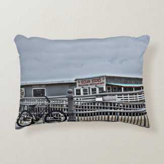 Bike On The Boardwalk by Shirley Taylor Decorative Pillow