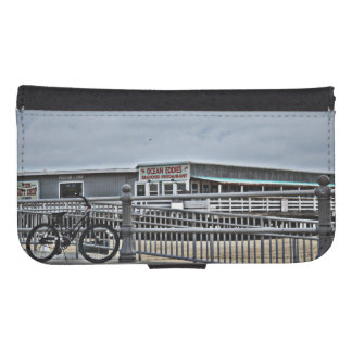 Bike On The Boardwalk by Shirley Taylor Phone Wallet