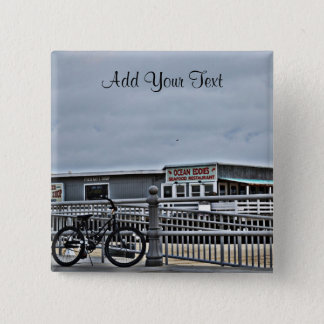 Bike On The Boardwalk by Shirley Taylor Pinback Button