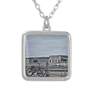 Bike On The Boardwalk by Shirley Taylor Silver Plated Necklace