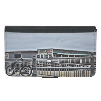 Bike On The Boardwalk Wallet Phone Case For Samsung Galaxy S5