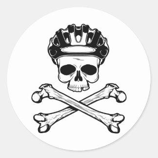 Bike or Die - Bike and Crossbones Classic Round Sticker