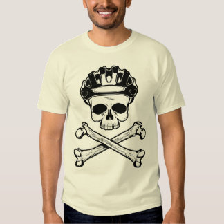 Bike or Die - Bike and Crossbones Tee Shirt