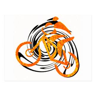 bike Orange Crush Postcard