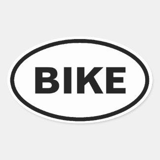 Bike oval car stickers