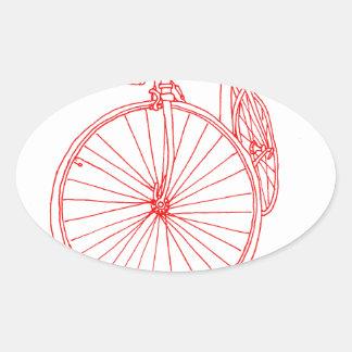 Bike Oval Sticker