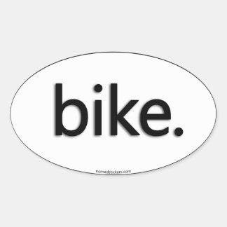 bike. oval sticker