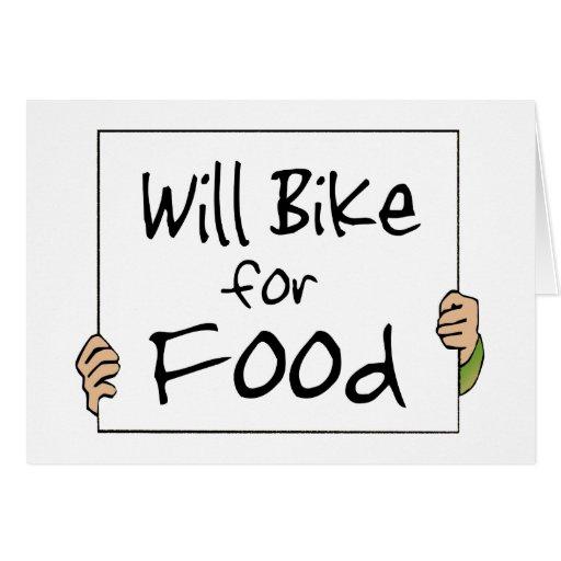 Bike para la comida felicitaciones