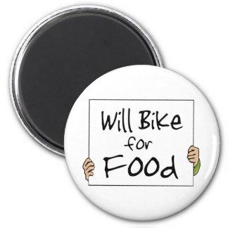 Bike para la comida imán redondo 5 cm