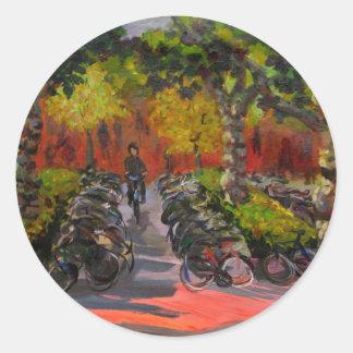 Bike Park Round Stickers