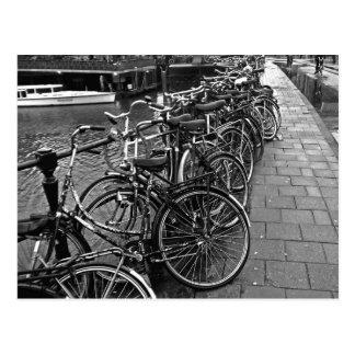 Bike Parking -- Amsterdam in November BW Post Card