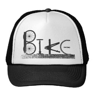 Bike Parts Word Graffiti Urban Design for Cyclists Hats