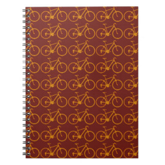 bike pattern for cyclists spiral notebook