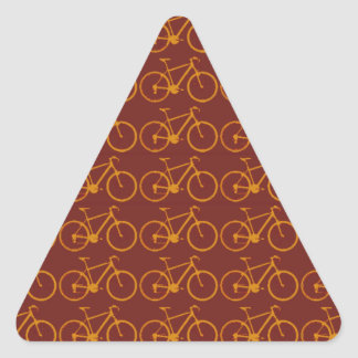 bike pattern for cyclists triangle sticker