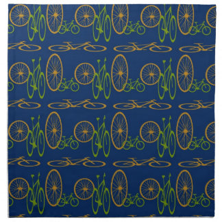 Bike pattern napkin