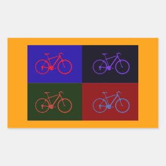 bike pop rectangular sticker