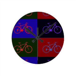 bike pop round clock