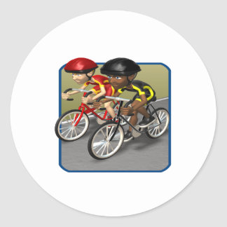 Bike Race Classic Round Sticker
