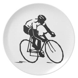 Bike race dinner plate