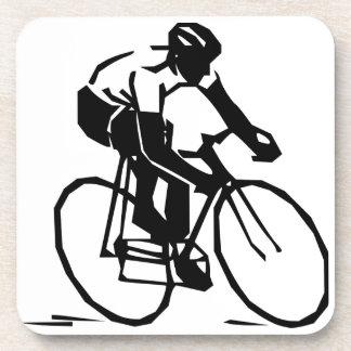Bike race drink coaster