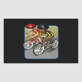 Bike Race Rectangular Sticker