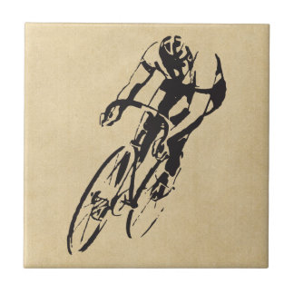 Bike Racing Velodrome Ceramic Tile