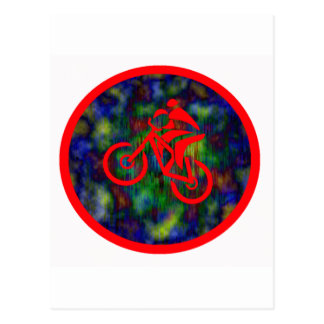 Bike Red Swinger Postcard