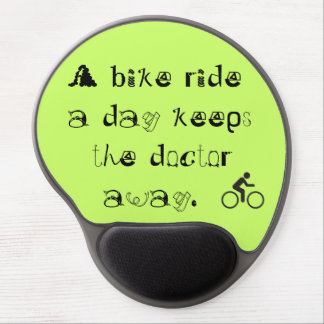 bike ride a day gel mouse pad