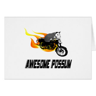Bike Rider Awesome Possum Card