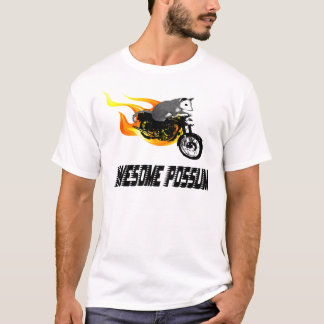 Bike Rider Awesome Possum T-Shirt