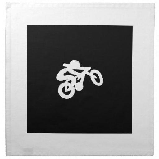 Bike Rider Black n White Napkins