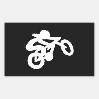 Bike Rider Black n White Rectangular Sticker