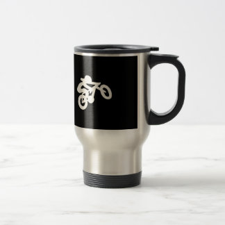 Bike Rider Black n White Travel Mug