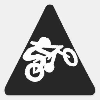Bike Rider Black n White Triangle Sticker