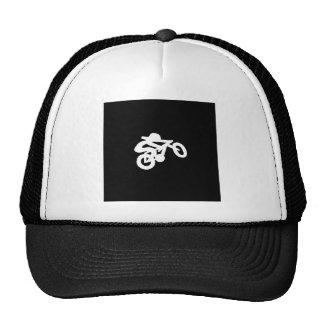 Bike Rider Black n White Trucker Hat