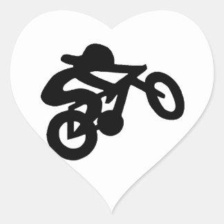 Bike Rider Heart Sticker