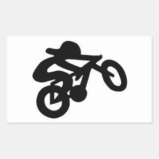 Bike Rider Rectangular Sticker