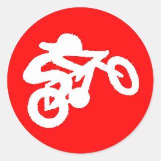 Bike Rider Red Classic Round Sticker