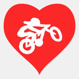 Bike Rider Red Heart Sticker