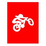Bike Rider Red Postcards