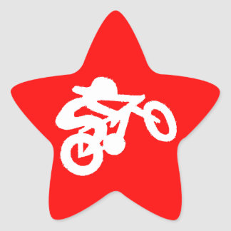Bike Rider Red Star Sticker