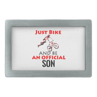 bike rider son rectangular belt buckle
