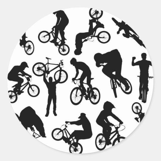 bike-riders classic round sticker