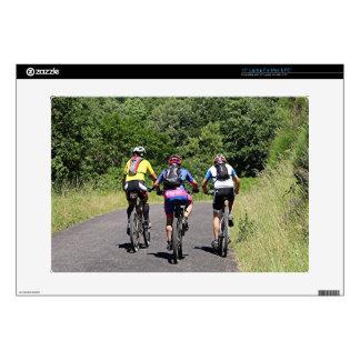Bike riders on El Camino, Spain Laptop Skins