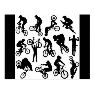 bike-riders postcard
