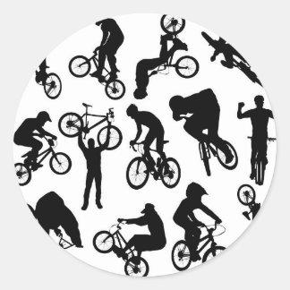 bike-riders round sticker