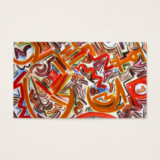 Bike Riding In Traffic -Abstract Business Cards