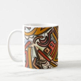 Bike Riding In Traffic-Abstract Geometric Coffee Mug