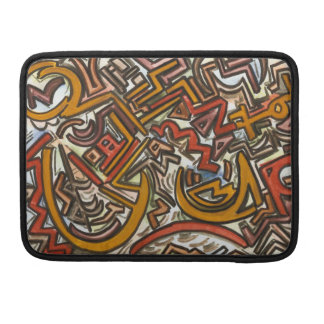 Bike Riding In Traffic-Abstract Geometric Sleeve For MacBooks