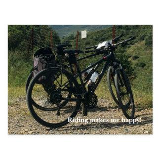 Bike Riding Makes Me Happy Postcard